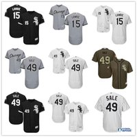 baseball brett - Chicago White Sox Brett Lawrie Chris Sale Majestic Flexbase Baseball Jerseys Black White Gray Mens MLB Size S XXXL