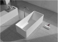 Wholesale 1500x650x500mm Solid Surface Stone CUPC Approval Bathtub Rectangular Freestanding Corian Matt Or Glossy Finishing Tub RS6587