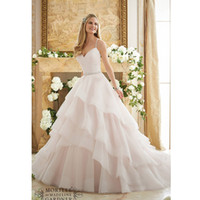 Wholesale Unique Pale Pink Wedding Dresses New Arrival Sexy Spaghetti Straps A line Wedding Gowns with Ruffles