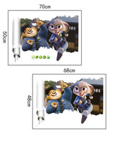 bedroom light pictures - PrettyBaby x70cm hot sale Zootopia wall posters wall painting home decorative art picture sticker bring U in zootopia