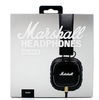 Wholesale 2017 Marshall Major II nd Generation headphones With Mic Noise Cancelling Deep Bass Hi Fi HiFi Headset DJ Monitor Headphones