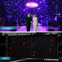 Wholesale 3 x m LED Stage Star Backdrop CH Wedding Background DJ Curtain Retardant