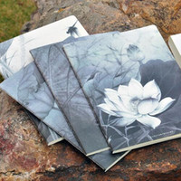 Wholesale quot Lotus Flowers quot Pack of Lined Notebook Diary Study Planner B5 K Exercise Book Workbook Composition Book Journal Big Notepad Gift