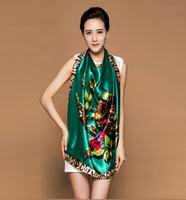 Cheap High-grade silk scarves large square silk satin scarf winter Ms. Scarf career