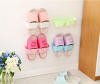 Wholesale 2015 New Simple Design Separated Wave Stereo Hanging Shoe Organizers Holder With Sticker Colors Home