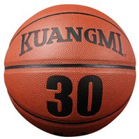 Wholesale Kuangmi sport Indoor Outdoor Basketball ball Wearproof Official Size PU Leather Rubber Varsity Street Fancy Basketball Game KMbb02