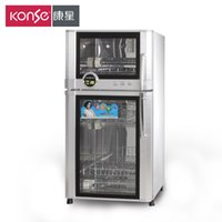 Wholesale Vertical stainless steel double high temperature disinfection cabinet household ozone cupboard genuine