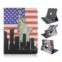 apple ipad tablet sales - flag pattern rotating case folio leather tablet case for ipad air mini pro hot sale