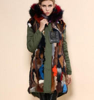 rabbits for sale - Snow warm coats for sale Mr Mrs Italy Fur Trimmed Canvas Multicolour fur lined Parka MR MRS FURS rabbit fur lined shell Army parka
