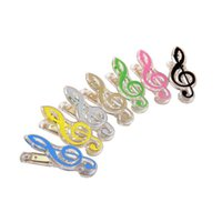 Wholesale high grade music stationery crystal transparent treble clef high pitch clef music clip music gift clip