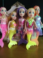 ariel beautiful - HOT NEW toys ariel lovely beautiful fish fashion dolls for children gift the first prince sofia doll girl gift toys inch