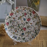 Wholesale Flat plate Western style food steak bone china dinner plate inch Nordic simple fashion style
