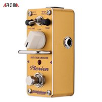 Wholesale AROMA APN Plexion Brit stack Simulator Guitarra Effect Pedal Mini Single Electric Guitar Effect Pedal with True Bypass