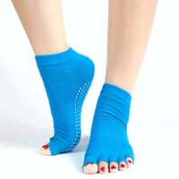 baseball grips - 1Pair Women Cozy Half Toes Socks Gym Yoga Dance Ankle Grip Non Slip Massage Design s1167