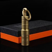 Wholesale LUBINSKI Vintage Bronze Two Sizes mm mm Detachable Cigar Punch Cutter W Buckle Gift Box