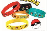 Wholesale Poke pokémon go Silicone Bracelets toys Children Poke Ball Sylveon Pikachu Charmander Bulbasaur Jeni turtle Bracelets