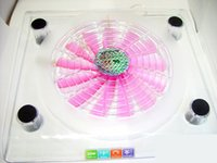 Wholesale Hot sale Big Fan Laptop Cooling Usb Notebook Cooling Pad With Led Lights Colorful Transparent