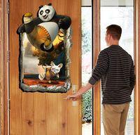 Wholesale Cartoon Movie Role Kung Fu Panda D Wall Sticker Kids Wallpaper Three Dimensional Vinilos Paredes D Frame Kids Wall Stickers