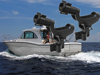 Wholesale Hot New Fishing Rod Holder Boat Mount Rack Kayak Adjustable Side Tackle Black Marine Fishing Rod Holder kit D535