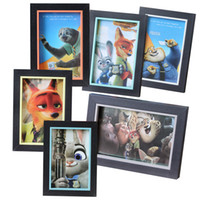 Wholesale Prettybaby zootopia wooden picture frame home creative dispaly photo frames X6 X7 sizes styles home decoration gift Pt0473 UPS