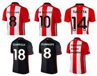 Wholesale Top A Athletic de Bilbao en casa roja blanca negro MUNIAIN ADURIZ camisetas de fútbol fútbol Futbol juego justo camisa