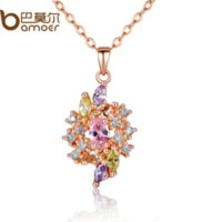 best gifts for marriage - Bamoer Flower Colorful CZ Jewelry Set for Women Best Wedding Gift of Fashion Marriage Jewelry Set For Promotion