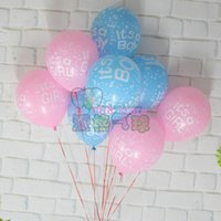 Wholesale New g it s a girl amp it s a boy printed pink blue latex balloon Baby latex balloon birthday party decor kids gifts