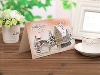 Wholesale Random delivery Christmas cards Christmas gifts Eight design card Thanksgiving creative Christmas greeting CARDS