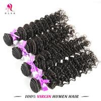 human braiding hair - Indian Bundles Deep Weave Hair Products Indian Braiding Hair Wefts Double Weft Indian Real Human Hair Deep Weave A