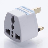 Wholesale 200Pcs High quality Universal EU US AU to UK AC Travel Power Plug Charger Adapter Converter Travel Adaptors