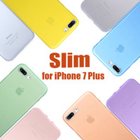 Wholesale For iPhone Full Cover PP Lens Protection mm Ultra Thin Case Slim Matte Frosted Transparent Soft Cover for Iphone Plus S DHL