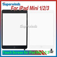 Wholesale For ipad mini Outside Touch Screen Digitizer with Home Button IC Connector Touch Panel Replacement Assembly DHL