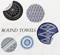 Wholesale 10 Painting Styles Microfiber Round Beach Towel With Tassels Bath Towels Summer toallas Swimming Sunbath serviette de bain