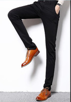 Wholesale Size Easy Care Black Straight Casual Business Suit Pants Men Office Pants Brand Formal Suit Pants Mens Wedding Trousers