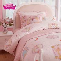 beauty beast cover - Beauty and the Beast Lovely Pink girl princess Cartoon Children Baby Cartoon Bedding Set Duvet Quilt cover