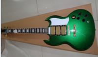 Precio de Cuerpo sg-Nuevo llegado Custom SG Style, Verde, cuerpo de caoba con 3 pastillas, con Gold Hardware Guitarra eléctrica