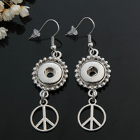 beauty peace - Hot sale PJ0149 Charm Peace symbol ginger snap earring fit DIY mm ginger snap buttons beauty charm