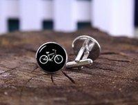 bicycle cufflink - Vintage Bike Cufflinks Custom Date Name Cufflinks Tie Clip Custom Wedding Cuff Links Bicycle Bike Cufflinks Personalized Cufflinks