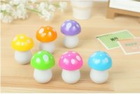 Wholesale New pieces Mini Kwaii Creatived Flexible Plastic Mushroom Ballpoint Pens stationery Prize Gift