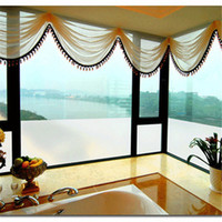 Wholesale 1 meter cm Width Light Through Frosted Films Bathroom Office Privacy Protection Self Adhesive Solid Glass Window Door Stickers Cut