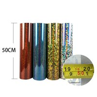Wholesale 5M Holographic Heat Transfer Vinyl With Sticky Back Transfer Vinyl From Colors