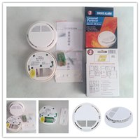 Wholesale Smoke Fir Alarms System Wireless Smog Detector Alertors Photoelectric Wireless Home Security Alarm Systems With Battery and Package