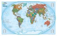 """Cheap Top fashion GBHL238 Modern Home Wall Decor Painting """"The world Map"""" Canvas Art HD Print Painting Canvas Picture sticker poster"""