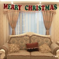 banner media - Christmas Party Supplies Indoor Felt Banner Decorating Merry Christmas Letters Flag Snowman Snowflake Ornaments m Event Party Props Set