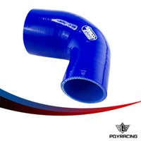 Wholesale PQY Racing BLUE quot quot mm mm Degree Elbow Reducer Silicone Hose Pipe Turbo Intake PQY SH902030BL