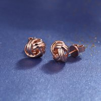 Wholesale Star Harvest Quality Sterling Silver Rose Gold Plating Chinese Earrings Lovely Simple charming For present