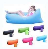 Wholesale Fast inflatable laybag sleeping bag lamzac hangout lazy bag beach soaf lounger air sofa laybag Camping banana sleeping bag