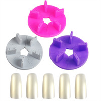 Wholesale Pc Plastic Nail Art Salon Tools Tips Display Practice Stand Holder False Nail Show Work Table Practice Set with Nail Tips