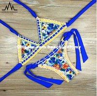 acrylic swimming pool - DHL free ship Women crochet bikini bandage swimwear colors beachwear Swimwear Swimsuits Beach Bathing Suit swimming pool sets sexy