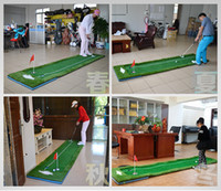 Wholesale 2016 the newest golf training aids Golf practice blanket free send putter golf ball red flag brush